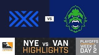 HIGHLIGHTS New York Excelsior vs. Vancouver Titans | Playoffs | Week 2 | Day 2 | Overwatch League