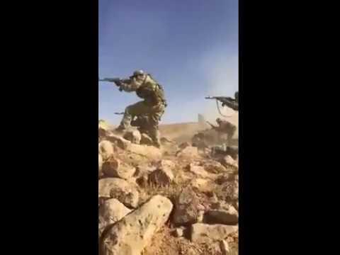 Подразделение Вагнера в бою против ИГ, провинция Хомс, Сирия