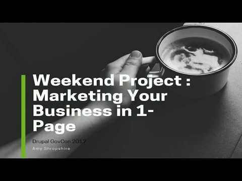Weekend Project : Marketing Your Business in 1-Page
