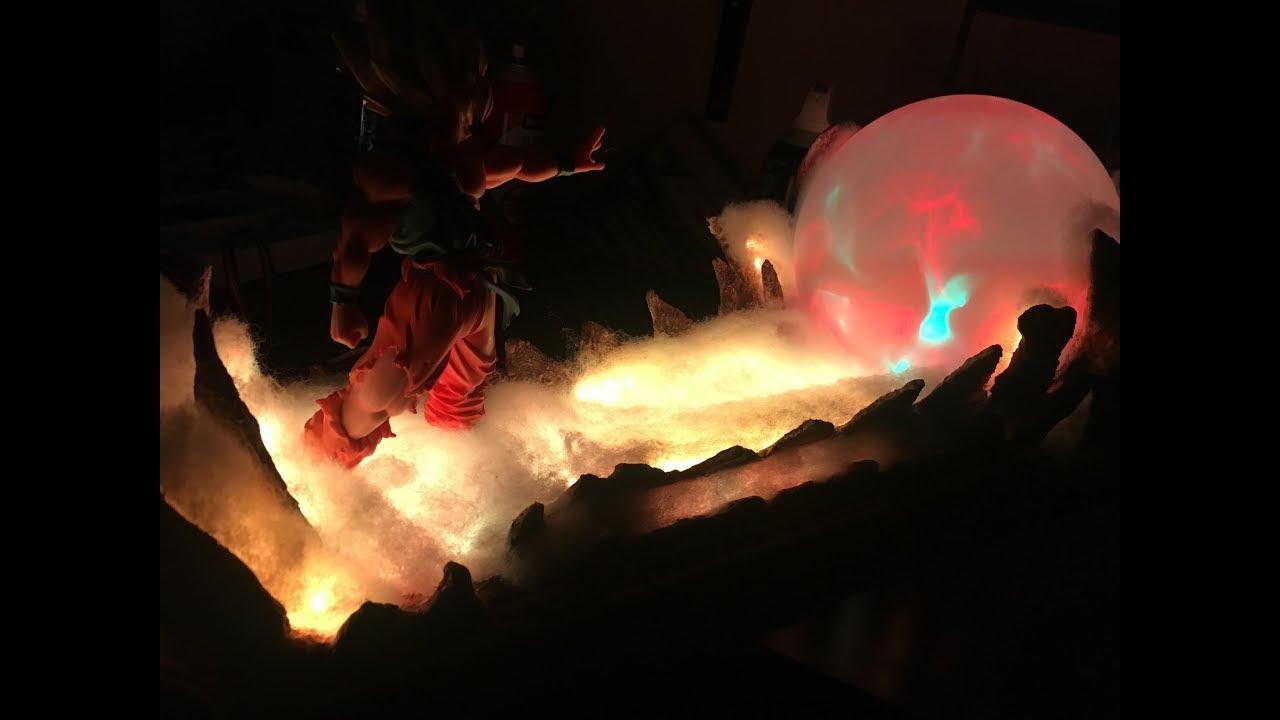 Dragon Ball Z Goku Super Saiyan Kamehameha Lamp Youtube