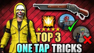 M1887 top 3 one tap headshot tricks of free fire battlegrounds