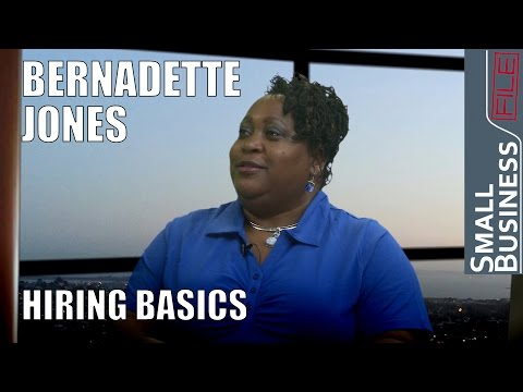 Small Business News and Hiring Basics with HR Specialist Bernadette Jones