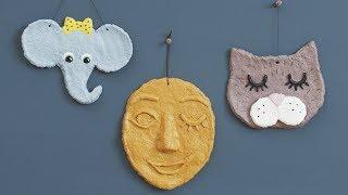 Learn how to make fun papier mâché wall decorations - DIY by Søstrene Grene