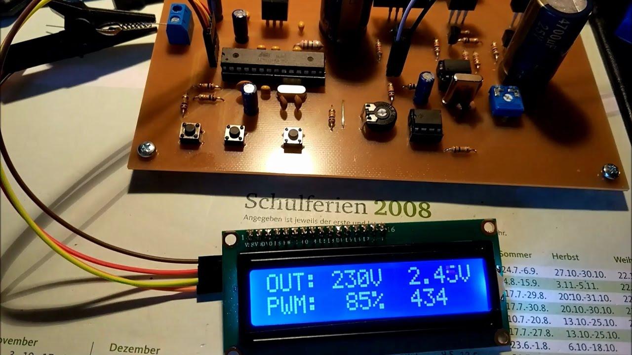 Wechselrichter 12V nach 230VAC mit Auto Regelung - Fertigstelllung ...
