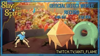 Slay the Spire Speedrun - Defect Any% World Record 7:46