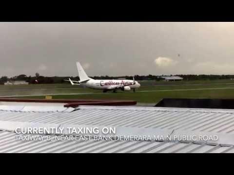 Planespotting At Cheddi Jagan International Airport (CJIA)- Republic Of Guyana (HD) (60FPS)