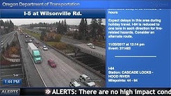 ODOT traffic cams Wednesday evening before Thanksgiving