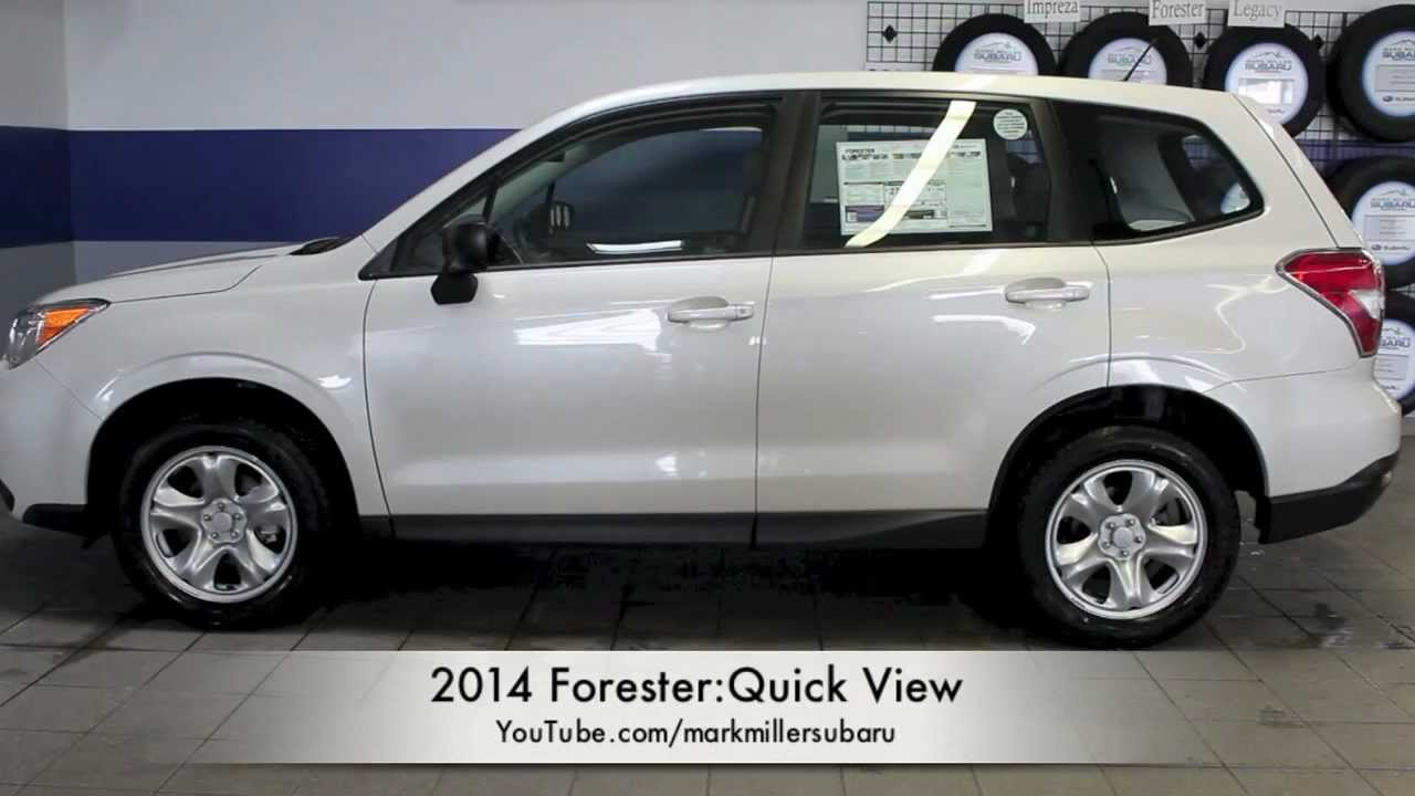 Don Miller Subaru >> 2014 Forester 2.5i Quick View: Mark Miller Subaru - YouTube