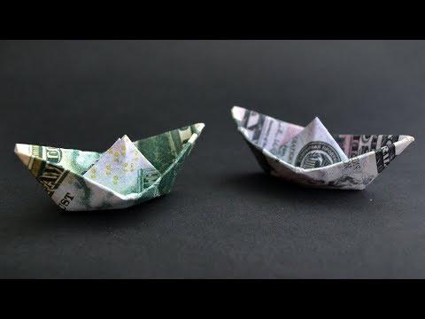 Money BOAT (Ship) | Easy Origami out of Dollar bill | Tutorial DIY