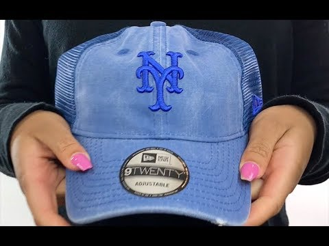 56fdce7b Mets 'TONAL-WASHED TRUCKER SNAPBACK' Royal Hat by New Era - YouTube