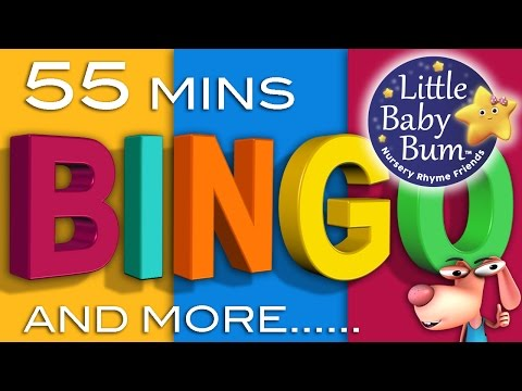 BINGO Song  Plus Lots More Classic Rhymes!  55 Minutes Compilation from LittleBaBum!