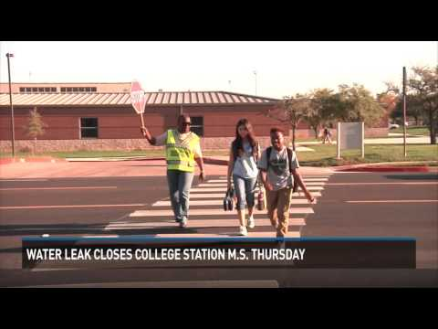College Station Middle School water leak cancels Thursday classes