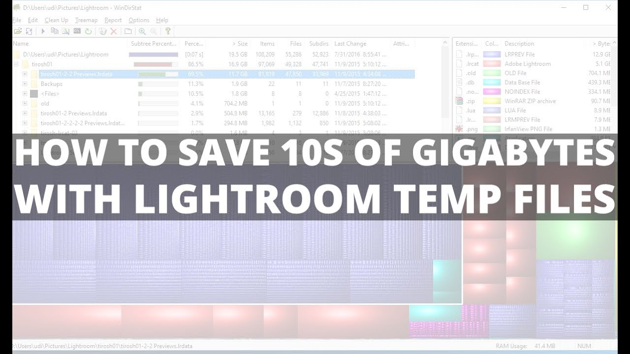 How to save 10s of gigabytes with lightroom temp files - DIY