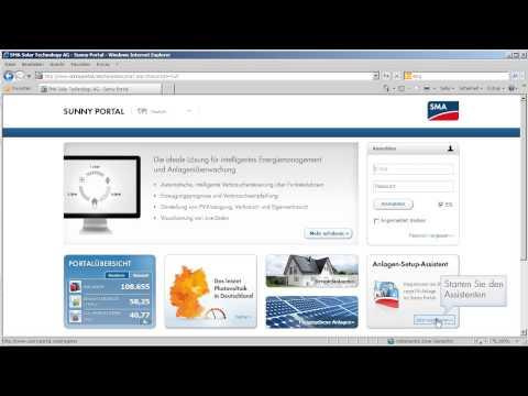 Sunny Home Manager-Anlagen registrieren