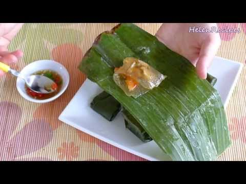 Clear Dumpling Wrapped in Banana Leaf - Banh Bot Loc La