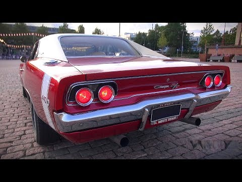 INSANE American Muscle Rollin' In and Out of Car Meet! *LOUD V8 STARTUPS!!*