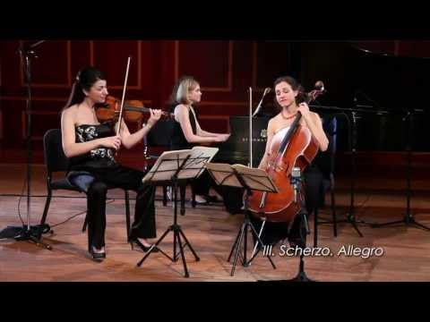 Cortona Trio plays Schubert - Piano Trio No. 1 in B-flat major, D. 898  III. Scherzo. Allegro