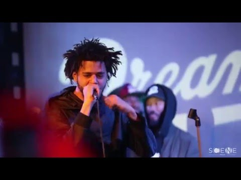"J Cole Performs ""Folgers Crystal"" & ""Back To The Topic Freestyle"" at SOBS's"