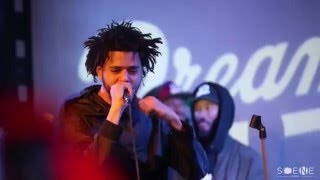 "J Cole Performs ""Folgers Crystal"" & ""Back To The Topic Freestyle"" at SOBS"