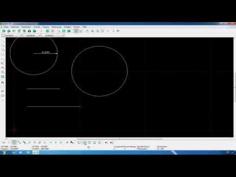 LibreCAD: Genaue Längen und Winkel zeichnen