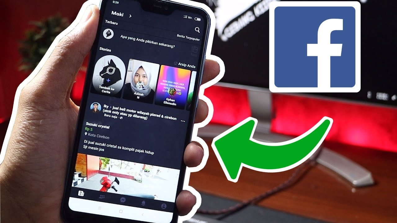 Cara Setting Tema Facebook Menjadi Dark Mode Tema Gelap Youtube