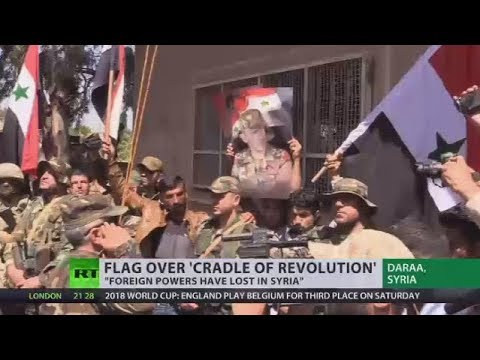 'Cradle of Revolution': Syrian flag raised over Daraa, where 2011 uprising started