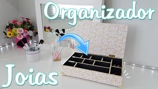 Organizador de Joias ou Maquiagens para Organizar a Penteadeira | Organizador #3 | Viviane Magalhães