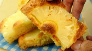 Easy Yummy Pineapple cake (No Talk No BGM 45)