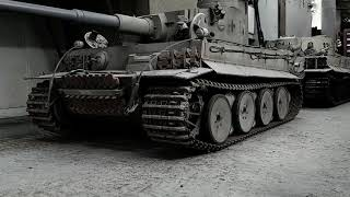 Tiger 331 The Range Target Is Towed Out The Tank Shed.