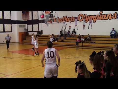 Marathon Girls BBall vs Union Springs (Video 1 of 4) 1-11-18