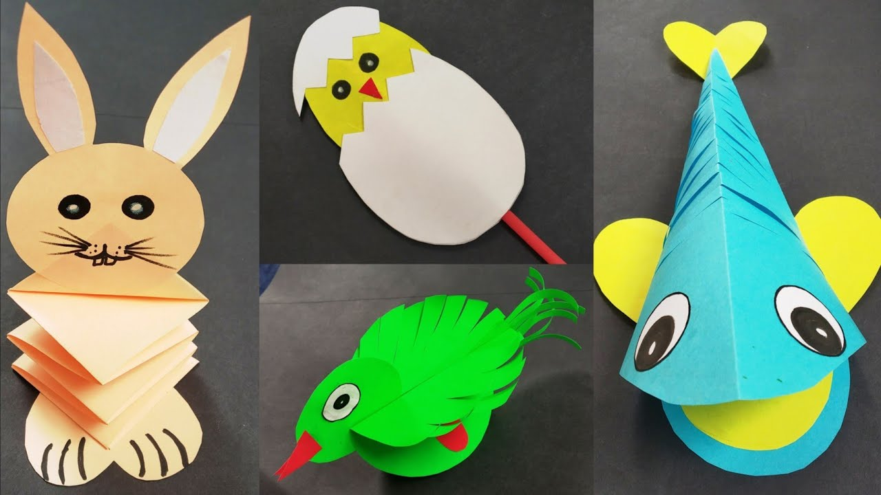 DIY 4 Easy Paper Crafts For Kids/ Preschool Craft Ideas For Kids/ Fun & Creativity Craft for Kids