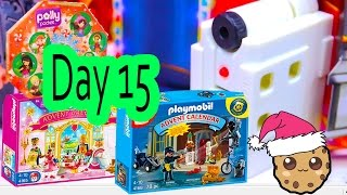 polly pocket playmobil holiday christmas advent calendar day 15 toy surprise opening video