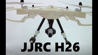 JJRC H26 D LARGE CAMERA DRONE $42 Winter High Flight REVIEW