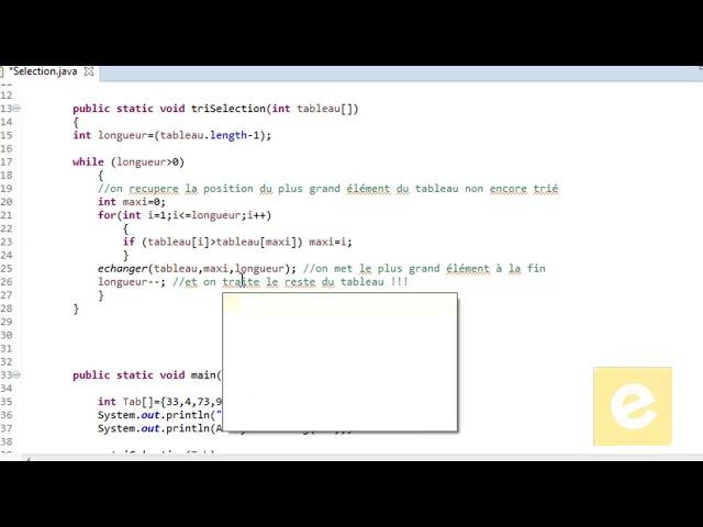 Java :Tri Par Sélection