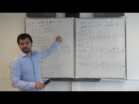 VEMACO-th1 Vectoren en Matrices - Les 4 - Regel van Cramer en Lineair Onafhankelijkheid, Mehmet Can