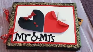 Anniversary Scrapbook ideas for husband/Handmade love scrapbook for hubby/ for someone special 2019
