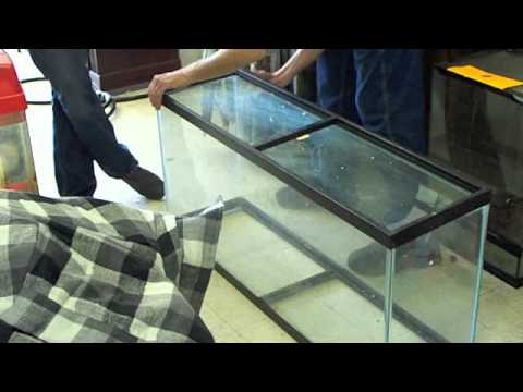 Glass aquarium silicone reseal doovi for How to reseal a fish tank