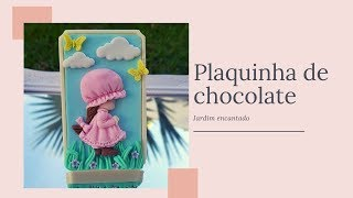 COMO FAZER PLAQUINHA DE CHOCOLATE DECORADA