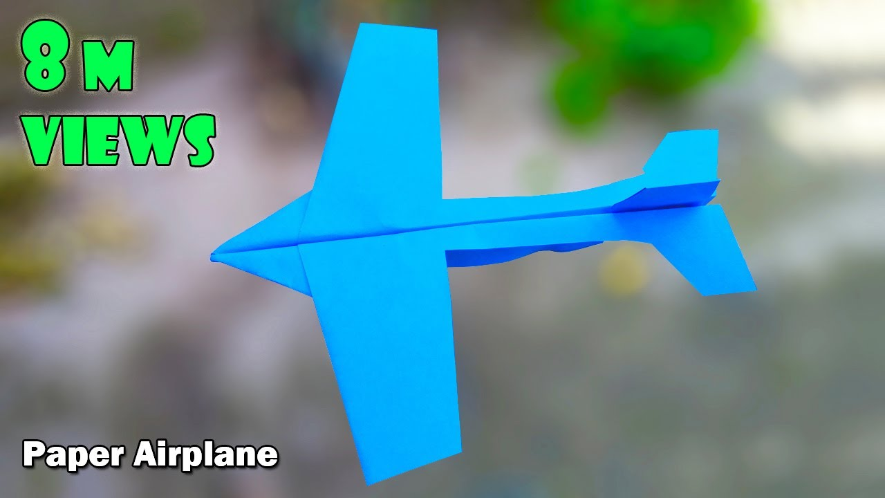 Download how to make paper airplanes that fly far | paper airplane that flies far easy step by step