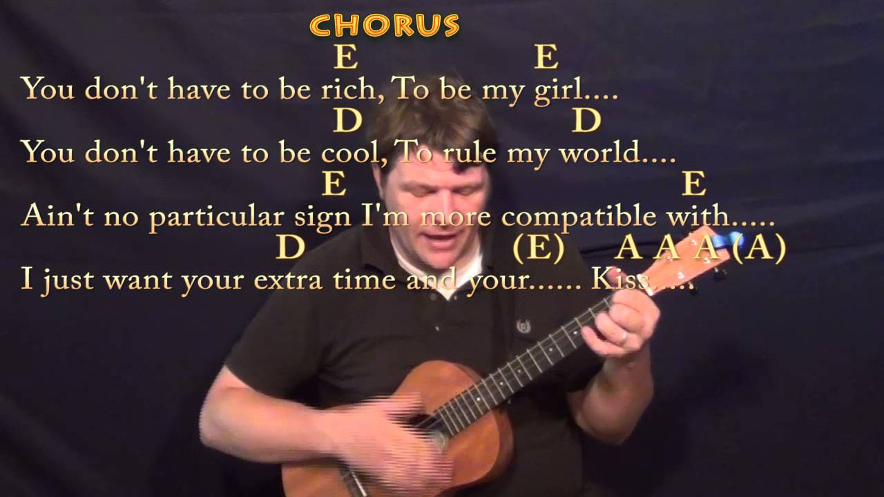 Kiss Prince Bariuke Cover Lesson With Chordslyrics A D E Youtube