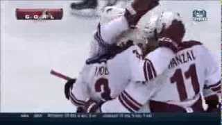 Keith Yandle Ties the Game for the Phoenix Coyotes at LA Kings