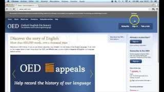 SIR - Oxford English Dictionary - BUSC
