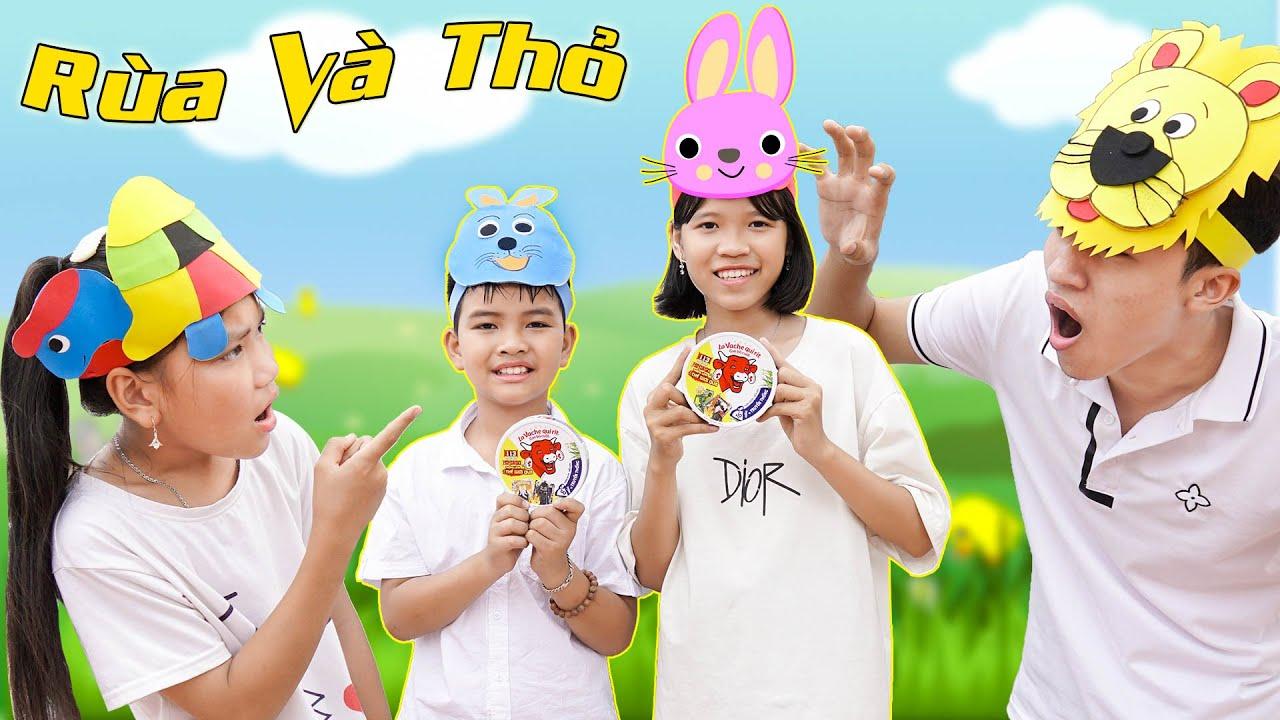 Rùa Và Thỏ Đại Chiến Sư Tử ♥ Min Min TV Minh Khoa