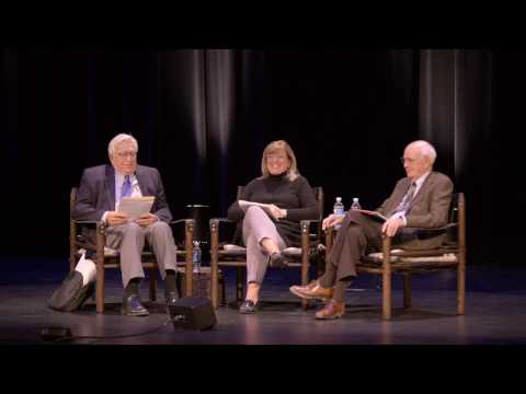 Wendell Berry,  Wes Jackson, and Mary Berry at the 36th Annual E. F. Schumacher Lectures