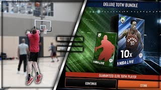 FOR EVERY HALF COURT SHOT I MAKE I HAVE TO OPEN A BUNDLE! (NBA Live Mobile)