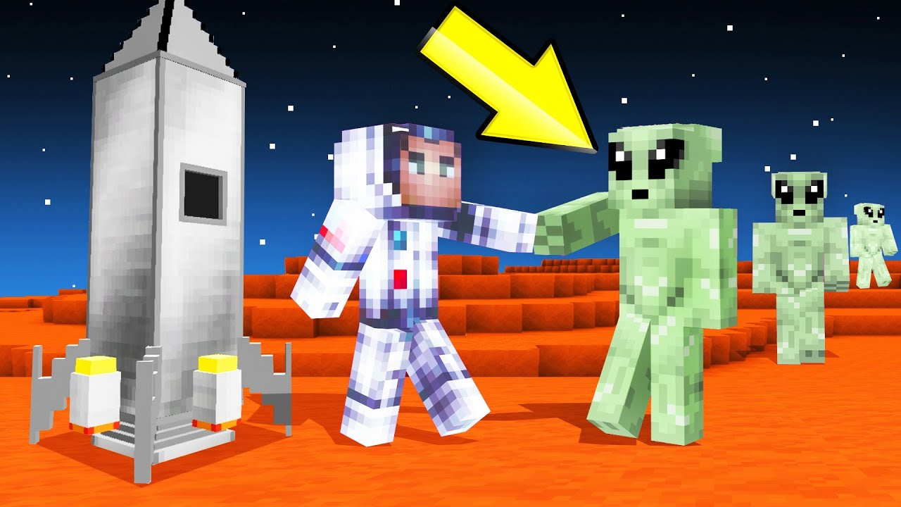 I Found ALIENS In MINECRAFT SPACE! (help) thumbnail