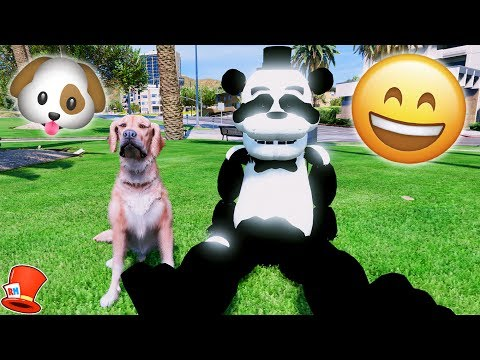 ANIMATRONICS FIRST PET DOG! PANDA FREDDY'S NEW BFF! (GTA 5 Mods For Kids FNAF RedHatter)