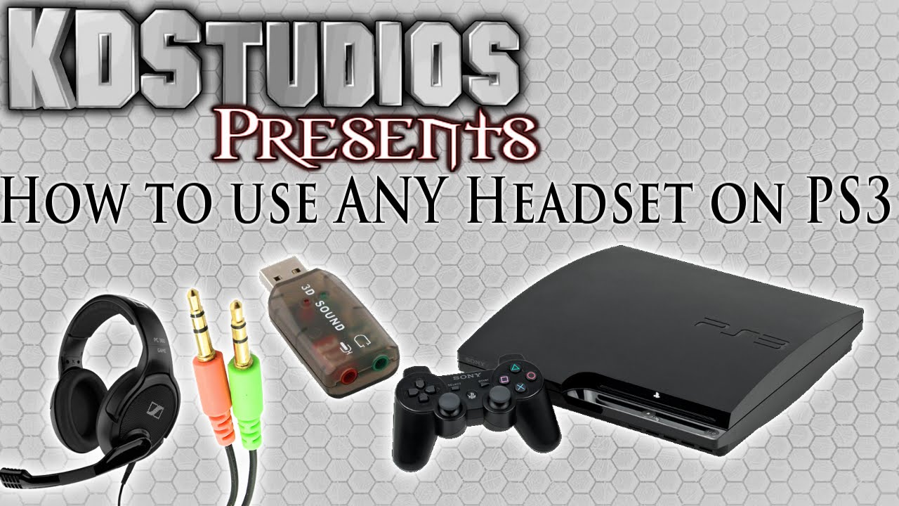 how to use any 3 5mm microphone headset with the ps3 usb sound card youtube [ 1280 x 720 Pixel ]