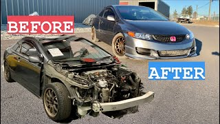 Rebuilding A Totaled Honda Civic In 10 Minutes From IAA