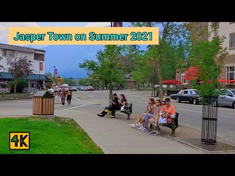 Jasper Town in jasper national Park, Alberta, Canada on summer 2021 #jasper